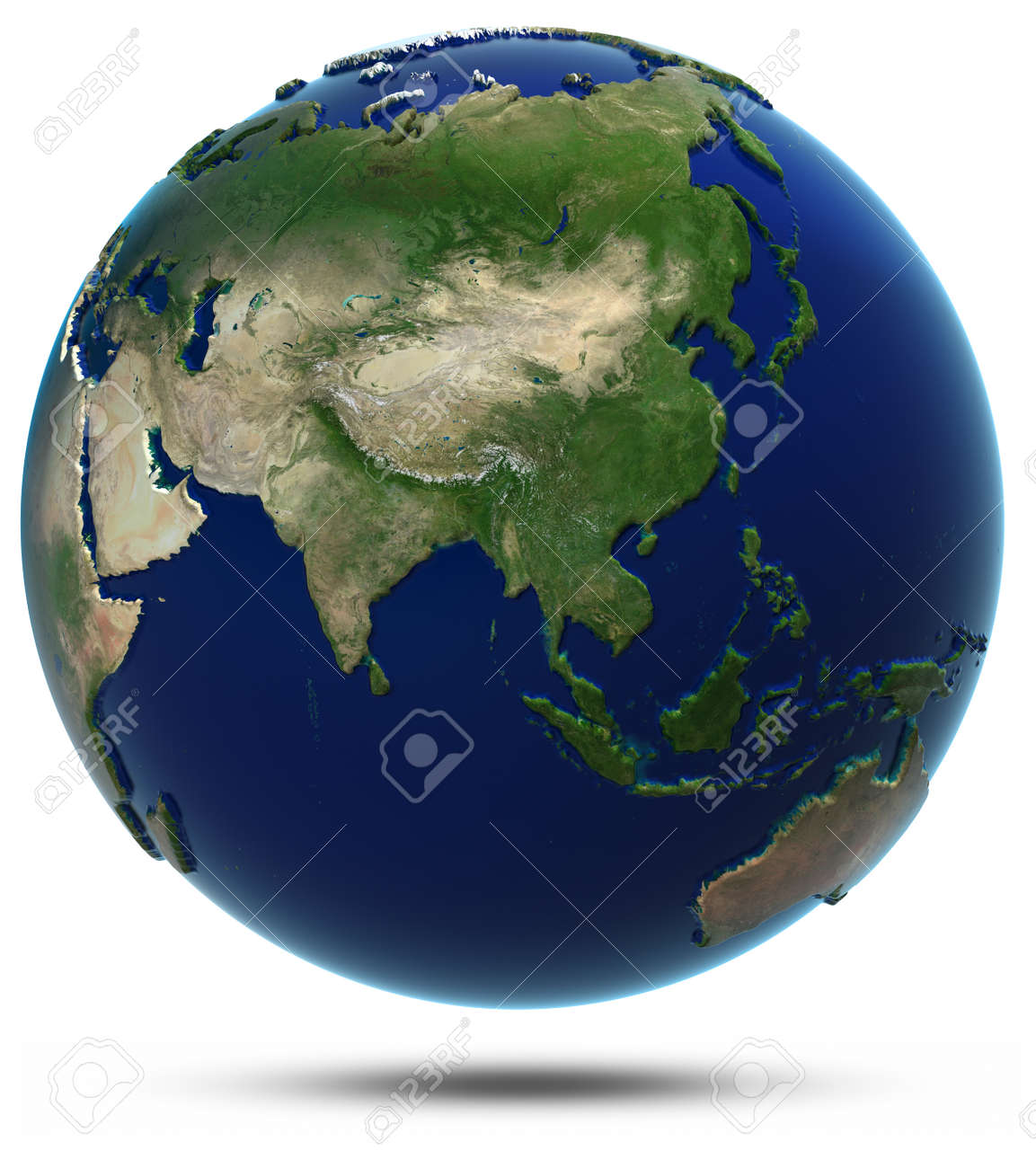 Asia World Map Elements Of This Image Furnished By Nasa Stock Photo