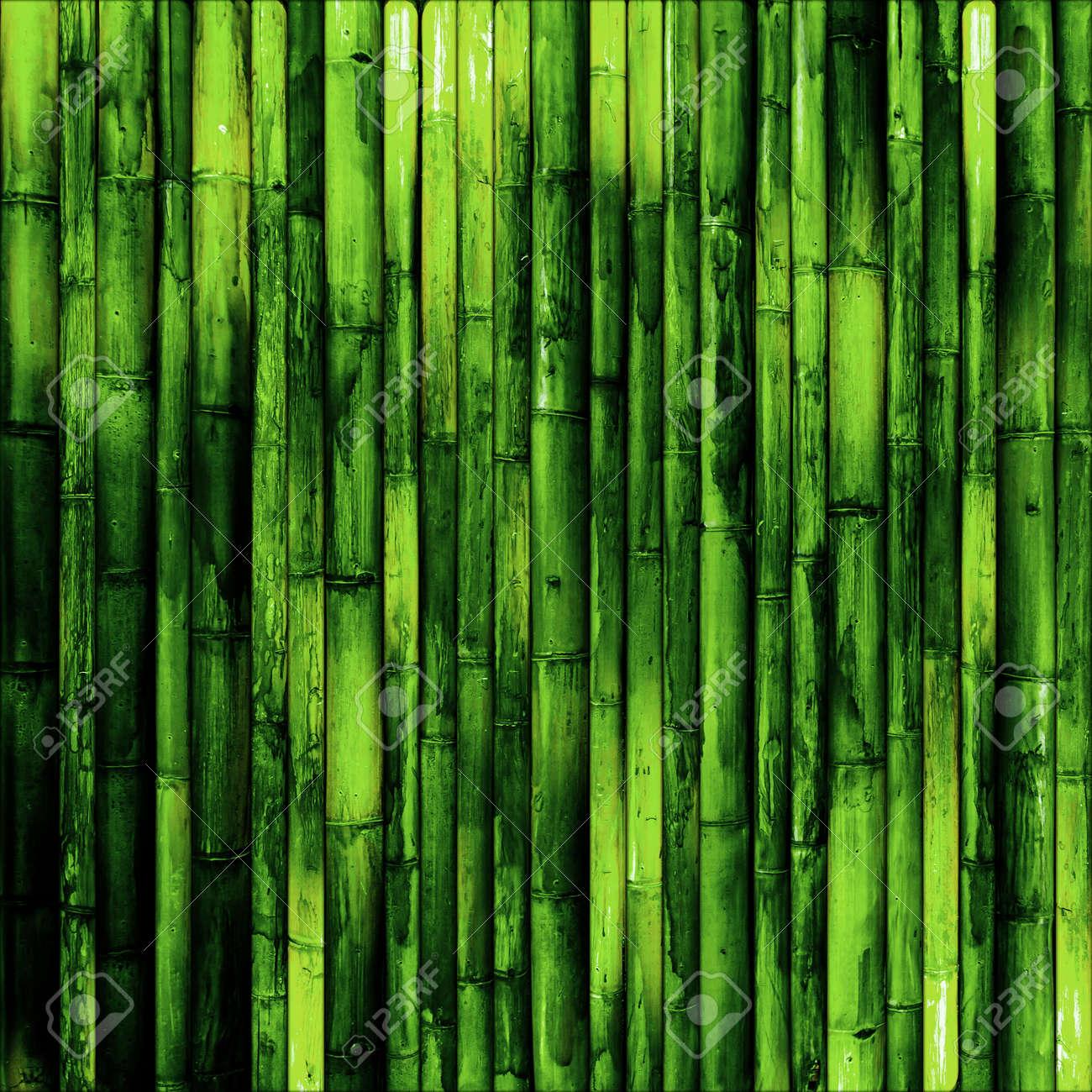 Immagini Stock Muro Di Bambù Sfondo Verde Natura Image 42184086