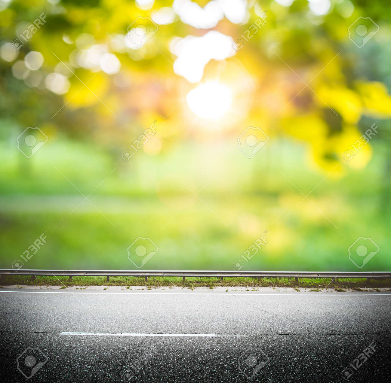 Green Forest Road Background Asphalt And Blurred Park Stock Photo Picture And Royalty Free Image Image 88326518