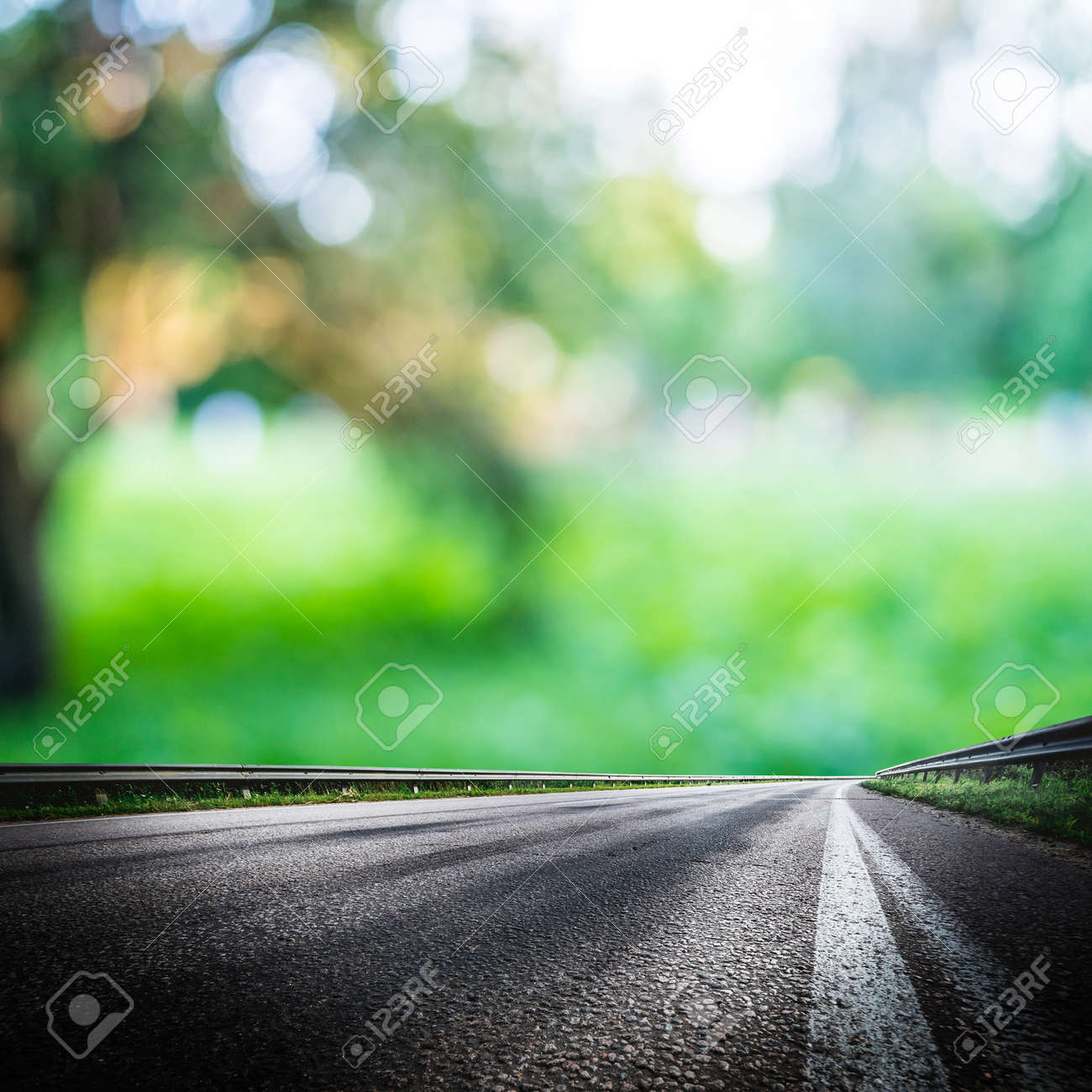 Green Forest Road Background Asphalt And Blurred Park Stock Photo Picture And Royalty Free Image Image 88784641