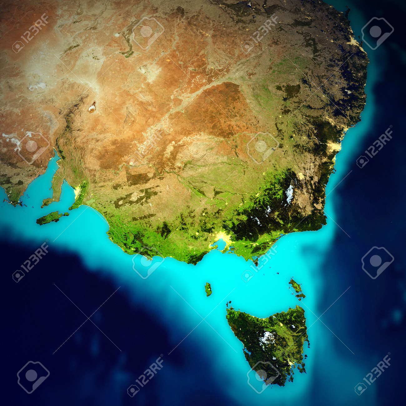 Map Of Australia From Space.Australia Space Map