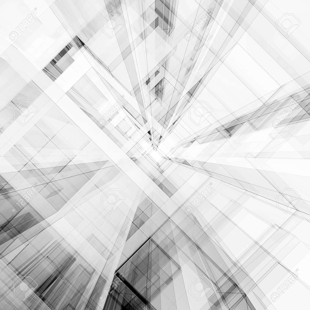 Abstract architecture. Concept view background 3D rendering - 120370924
