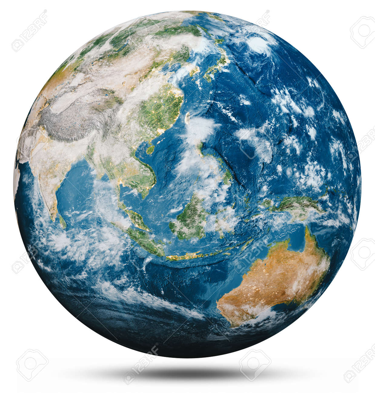 Planet Earth globe isolated. - 146048530