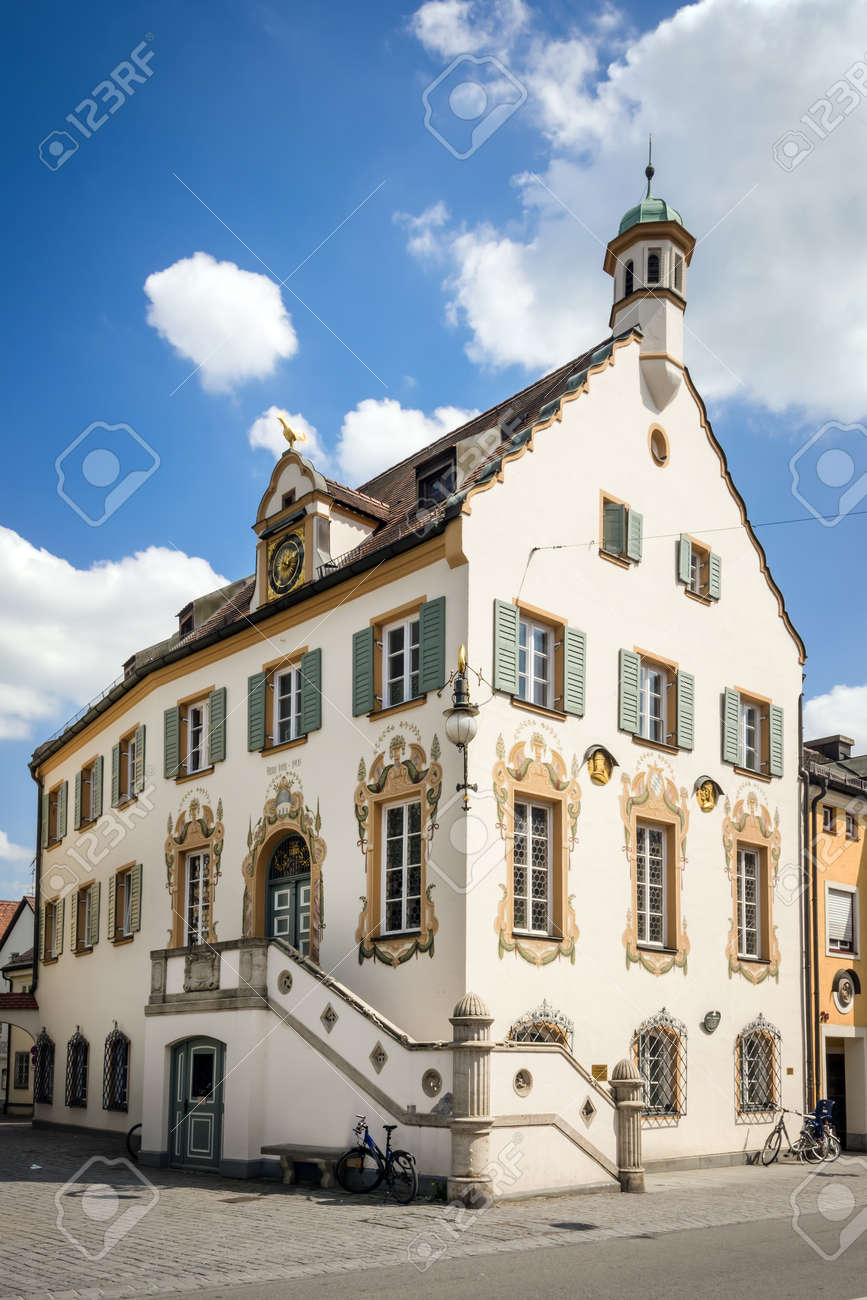 Historic City Hall of F�rstenfeldbruck, a typical town in Bavaria, Germany Stock Photo - 19844384