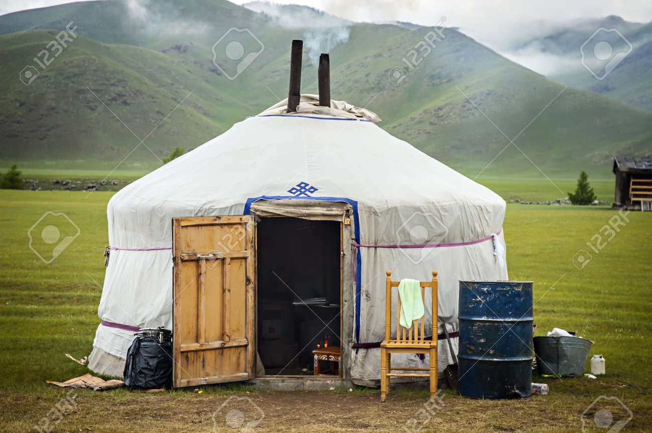 22145088-typical-mongolian-yurt-in-mongo