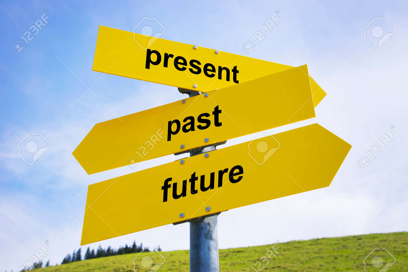 Showing present , Past and future
