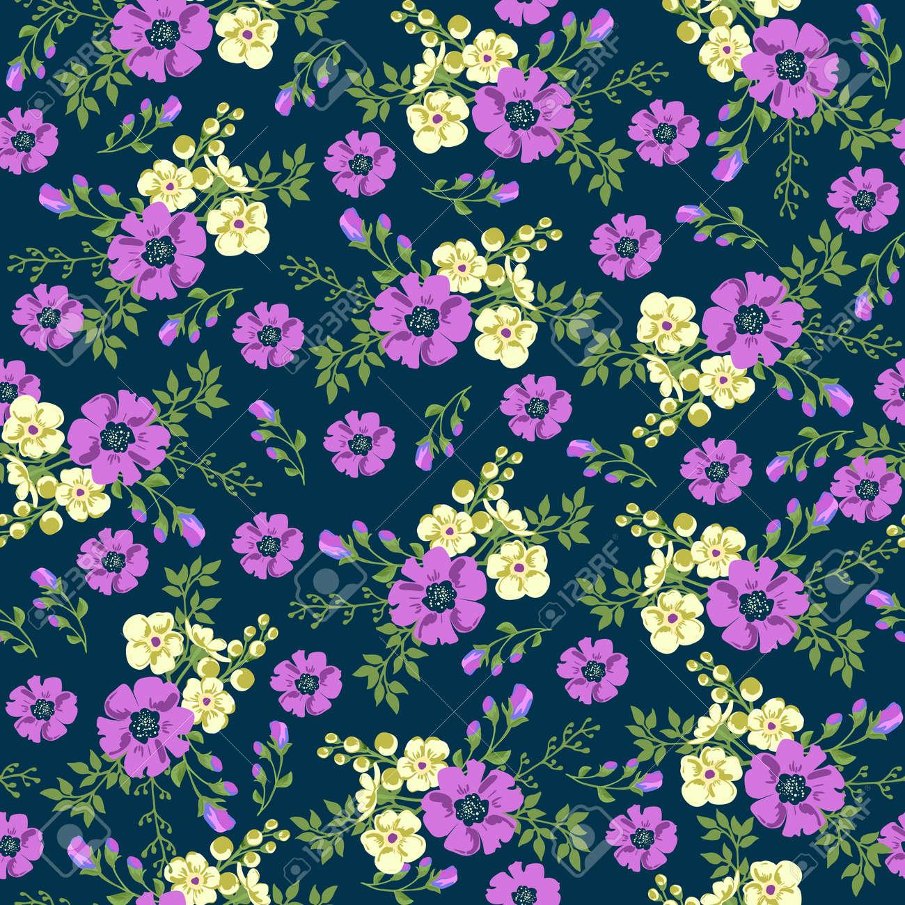Seamless pattern in small flower. Romantic flower print. Ditsy floral. Floral seamless pattern. Vector Illustration - 57191837