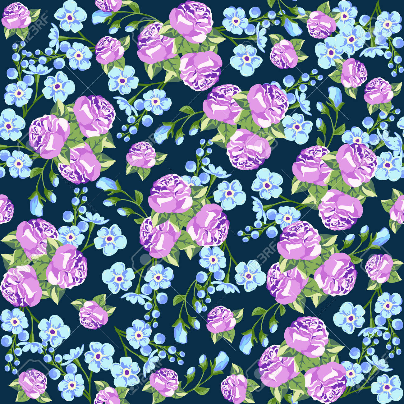Seamless Pattern In Small Flower Romantic Flower Print Ditsy