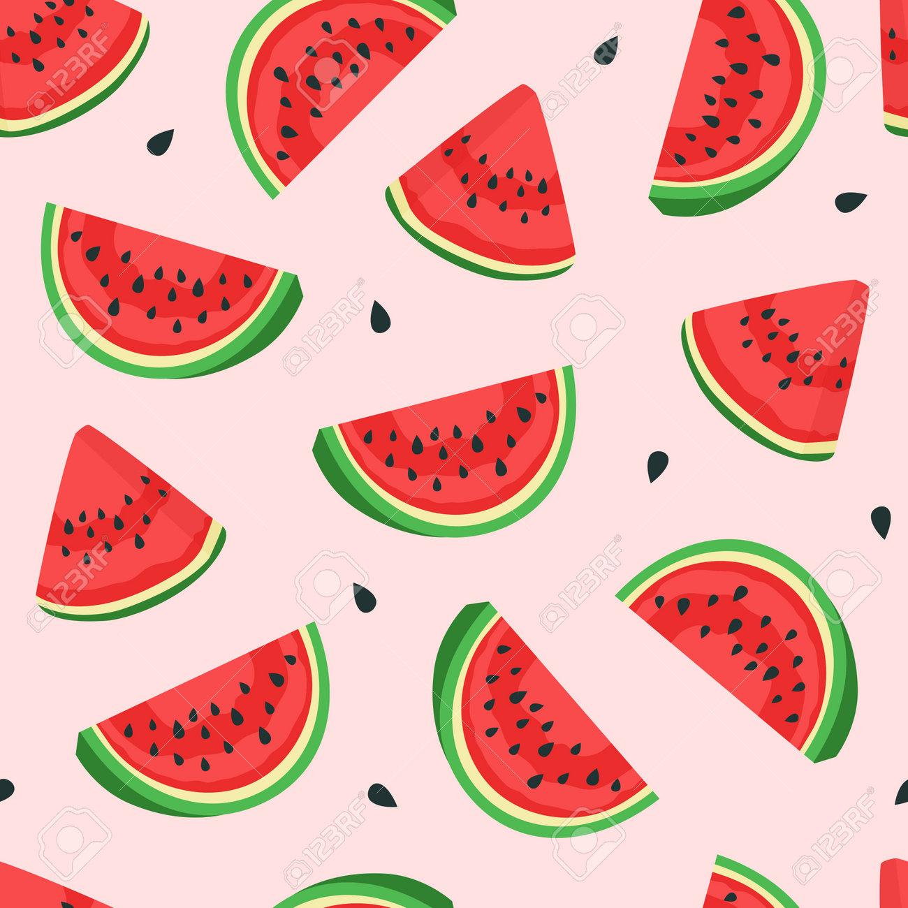 Watermelon pattern. Vector - 172329641