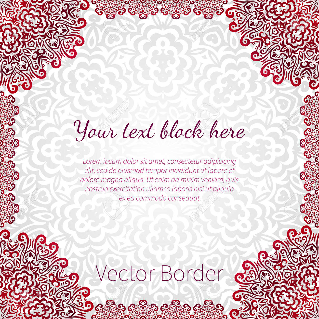 Lacy vector wedding card template romantic vintage wedding lacy vector wedding card template romantic vintage wedding invitation abstract circle floral ornament good for birthday stopboris Images