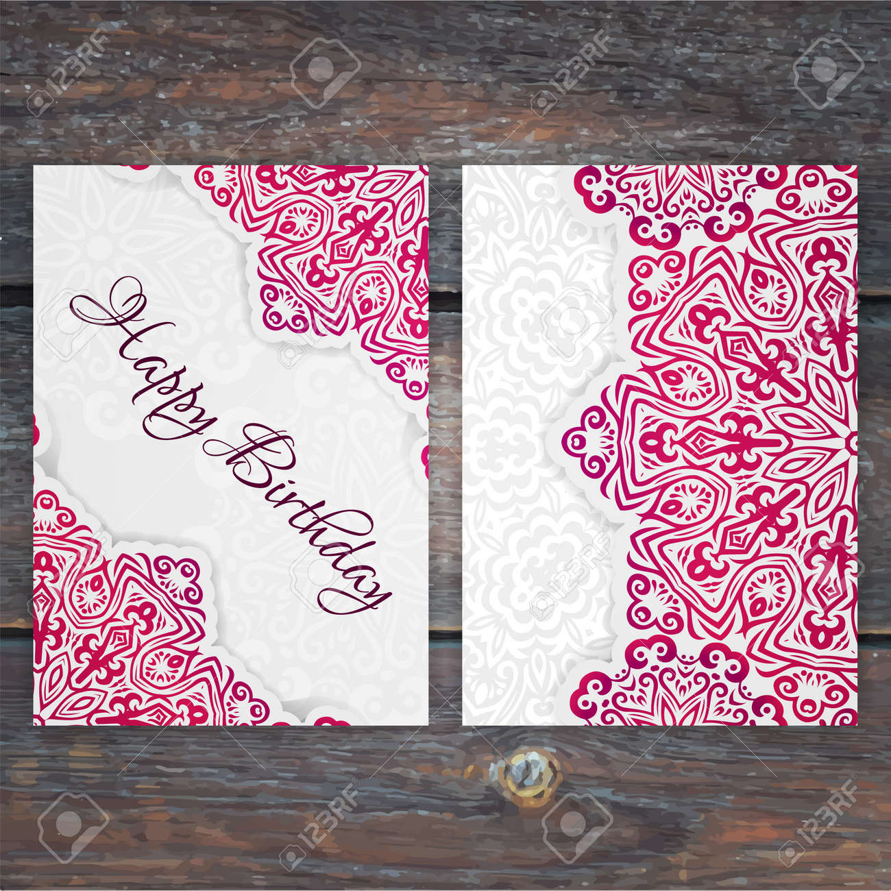 Lacy vector birthday card template romantic vintage wedding lacy vector birthday card template romantic vintage wedding invitation abstract circle floral ornament stopboris Image collections