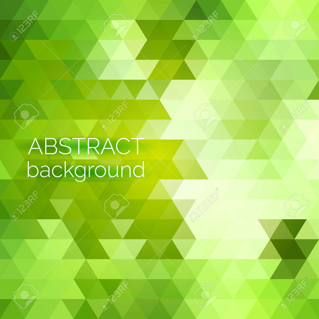 Abstract vector geometric background. Green fresh background. Backdrop design element. Triangle backdrop can be used for web page background, identity style, printing, etc. - 41613377