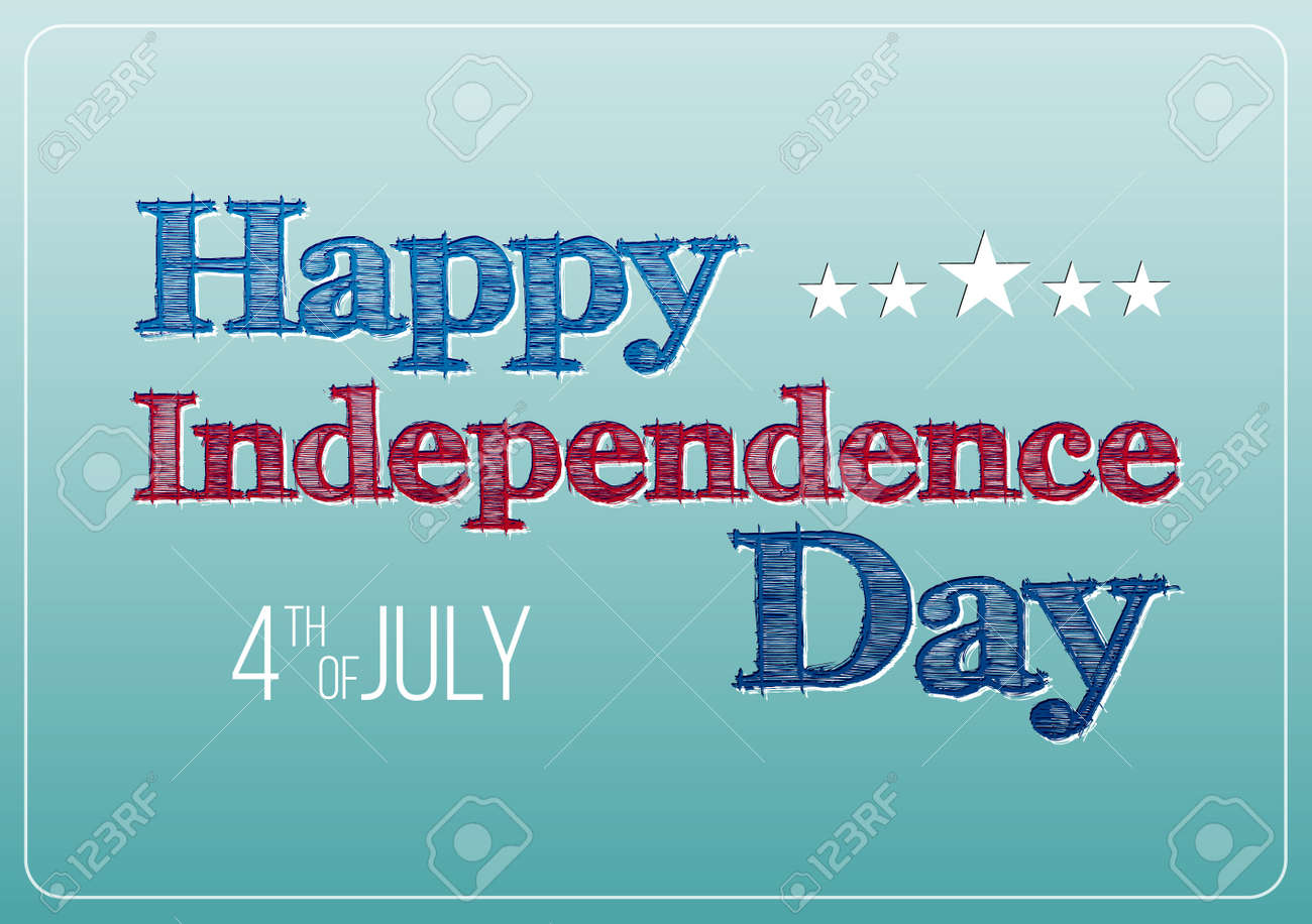 Postcard to the Happy independence day card United States of America, 4 th of July, 1776-2015. Vector poster. - 41613383