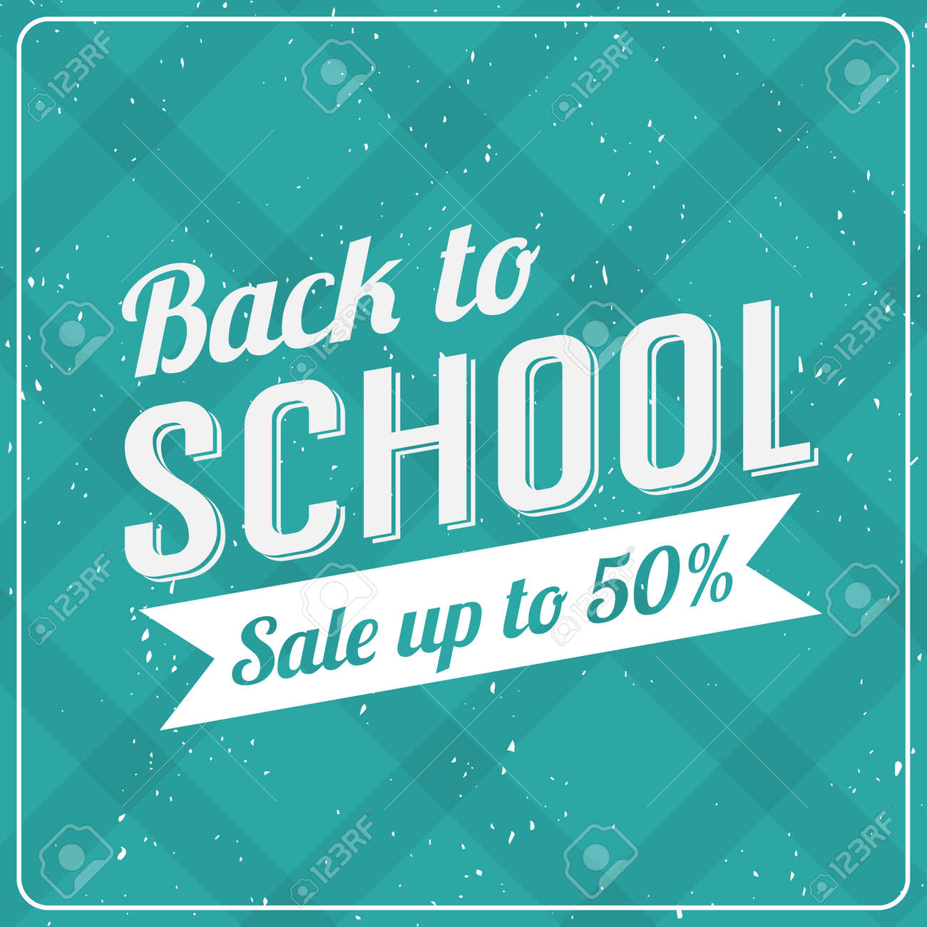 Back to School Typographic - Vintage Style Back to School Hot Deals Design Layout In Vector Format - 41613390