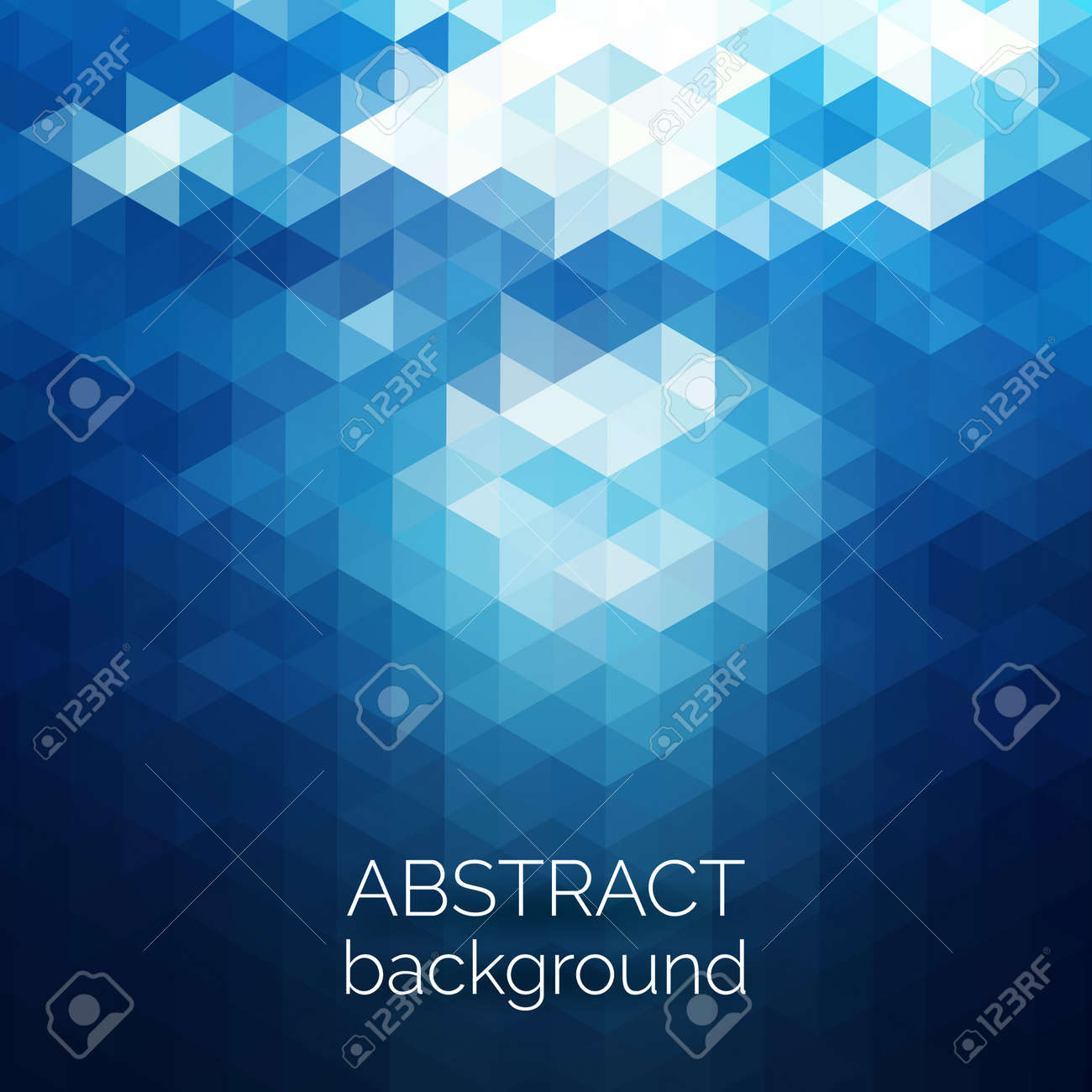 Abstract triangles pattern background. Blue water geometric background. Vector illustration - 41613391