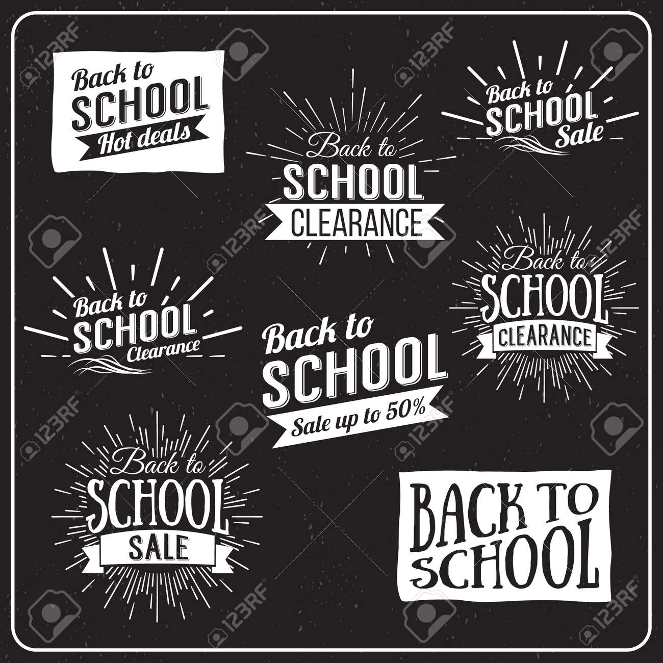 Back to School Typographic - Vintage Style Back to School Hot Deals Design Layout In Vector Format - 42450858