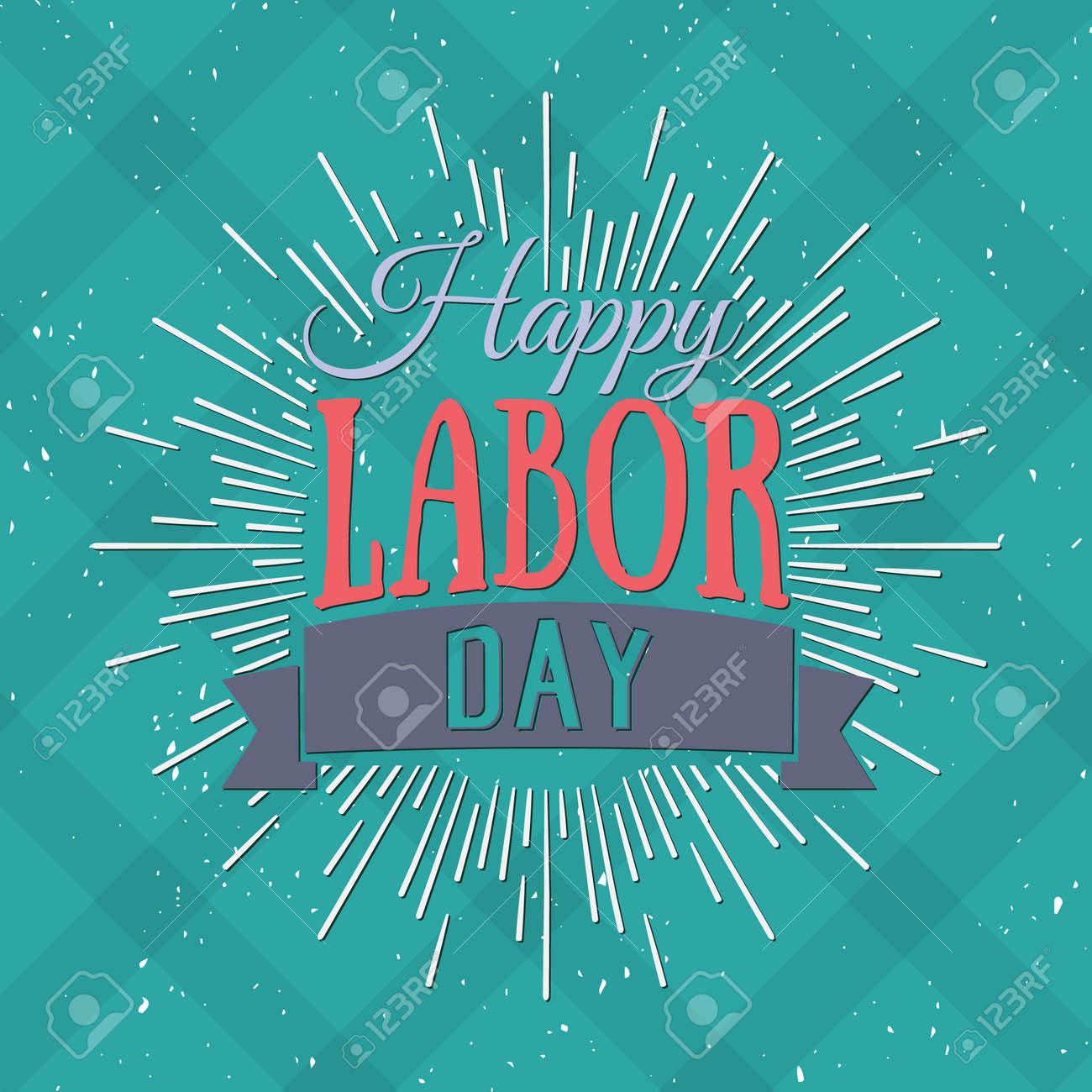 Vector Illustration Labor Day a national holiday of the United States. American Happy Labor Day design poster. - 44206755