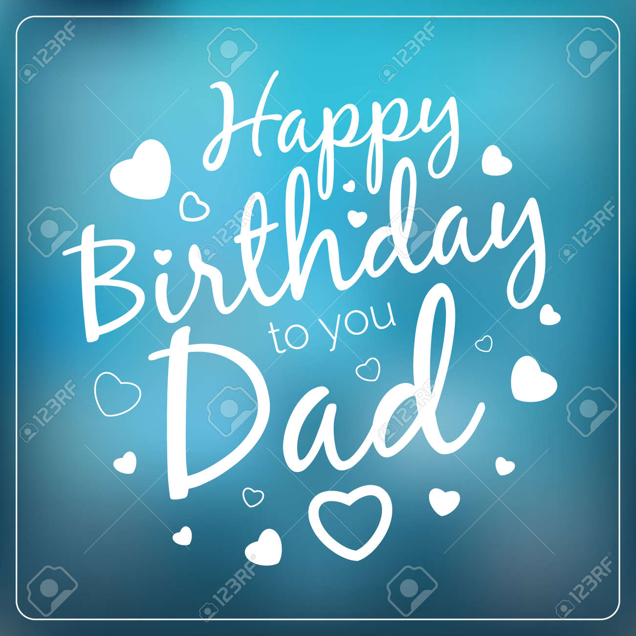 Typography Vector Happy Birthday To You Dad Card Template Vintage Typographical Background For