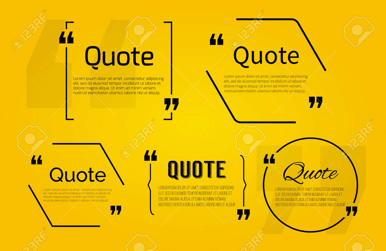 Quote blank with text bubble with Commas. Vector template for note,message, comment. Dialog box. - 45892673