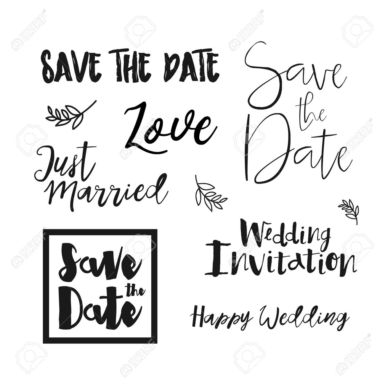 Ahorre Las De Invitacion De La Boda Save The Date Letras Guardar