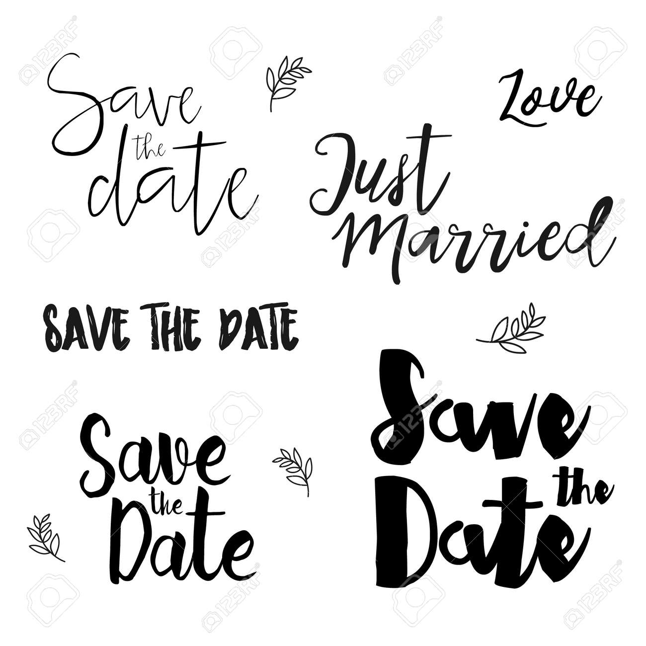 Save The Date Wedding Invitation Labels Save The Date Lettering - Save the date text template