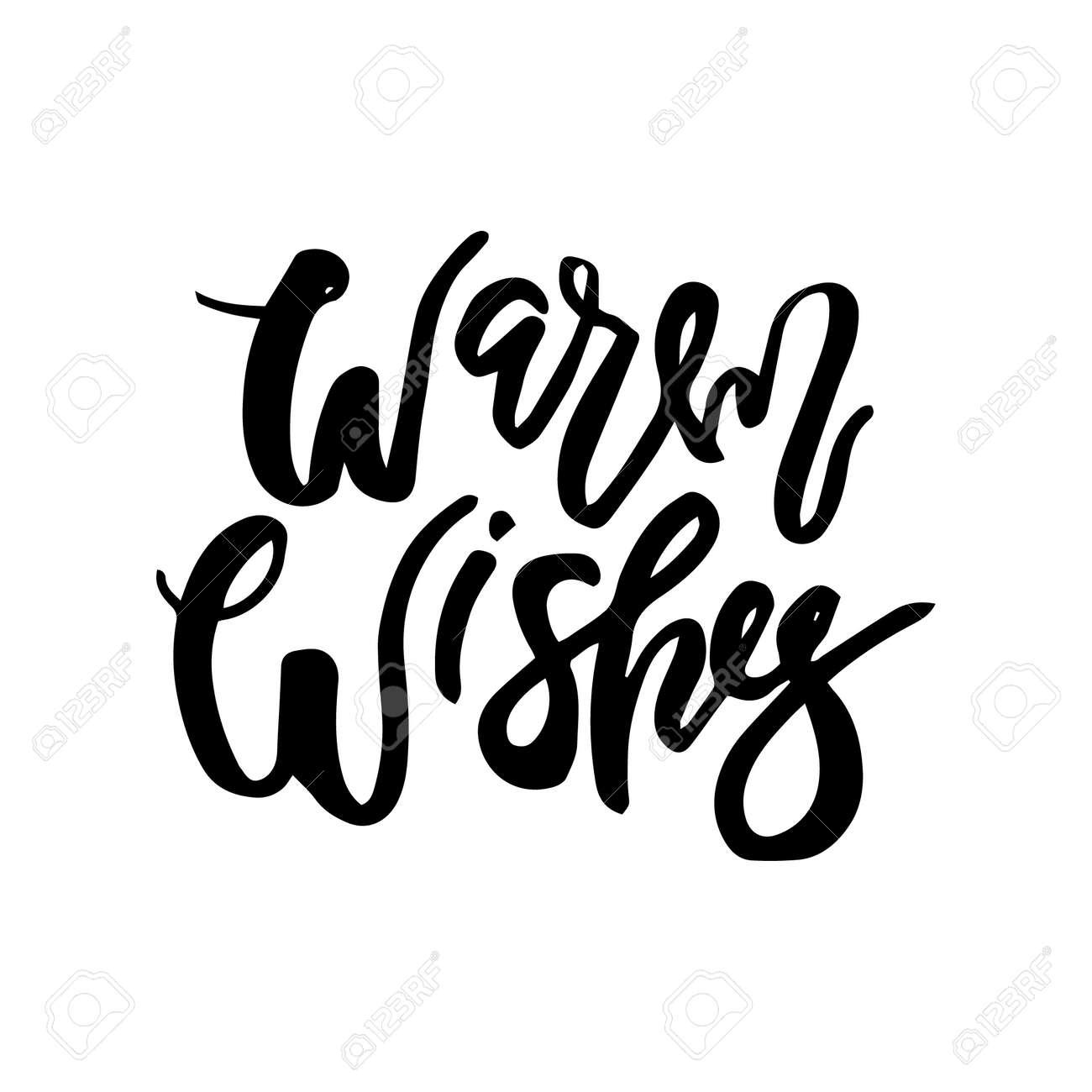 Tarjeta De Feliz Navidad Con Caligrafía Warm Wishes Plantilla Para Saludos Felicidades Carteles De Inauguración De La Casa Invitaciones