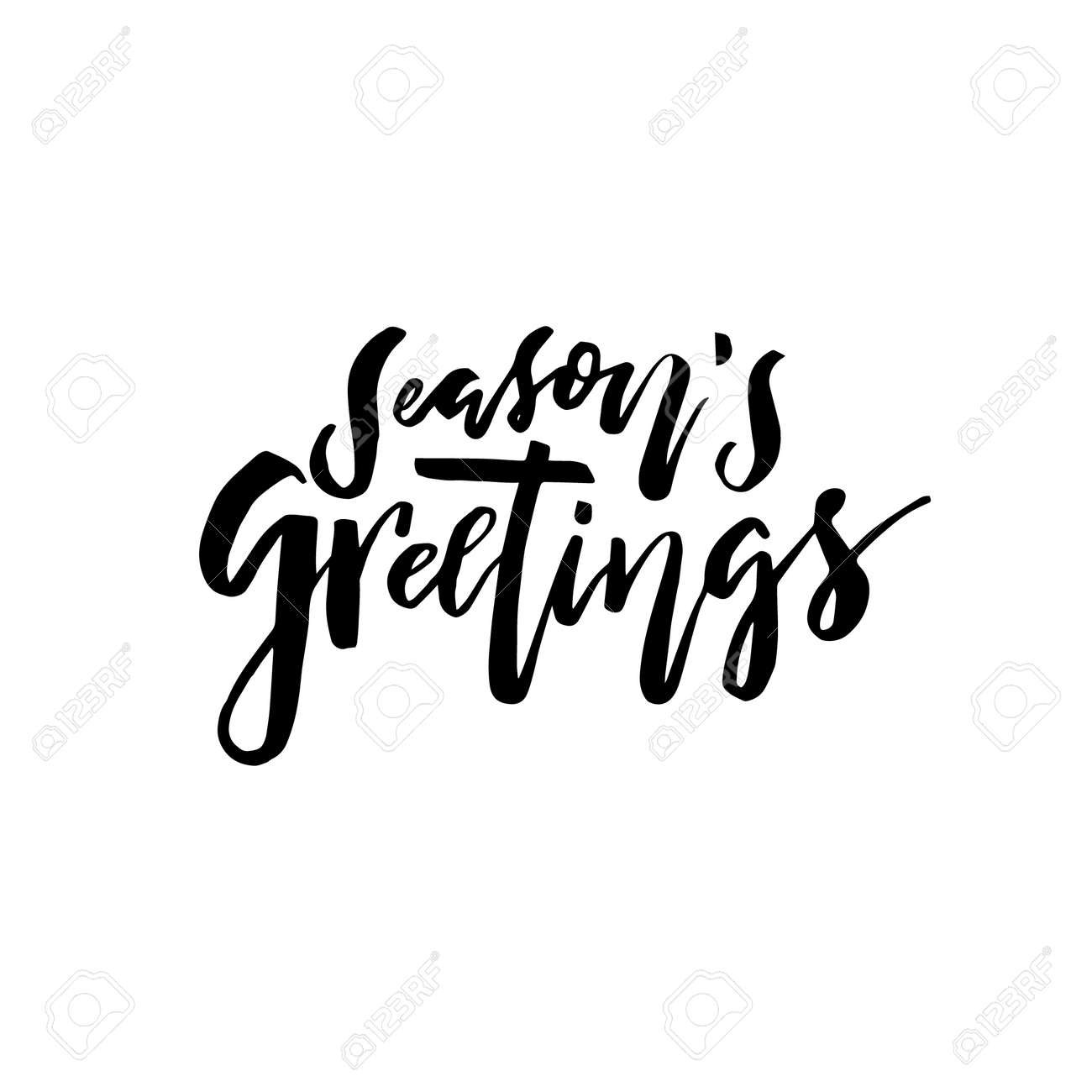 Merry christmas card with calligraphy seasons greetings merry christmas card with calligraphy kristyandbryce Image collections
