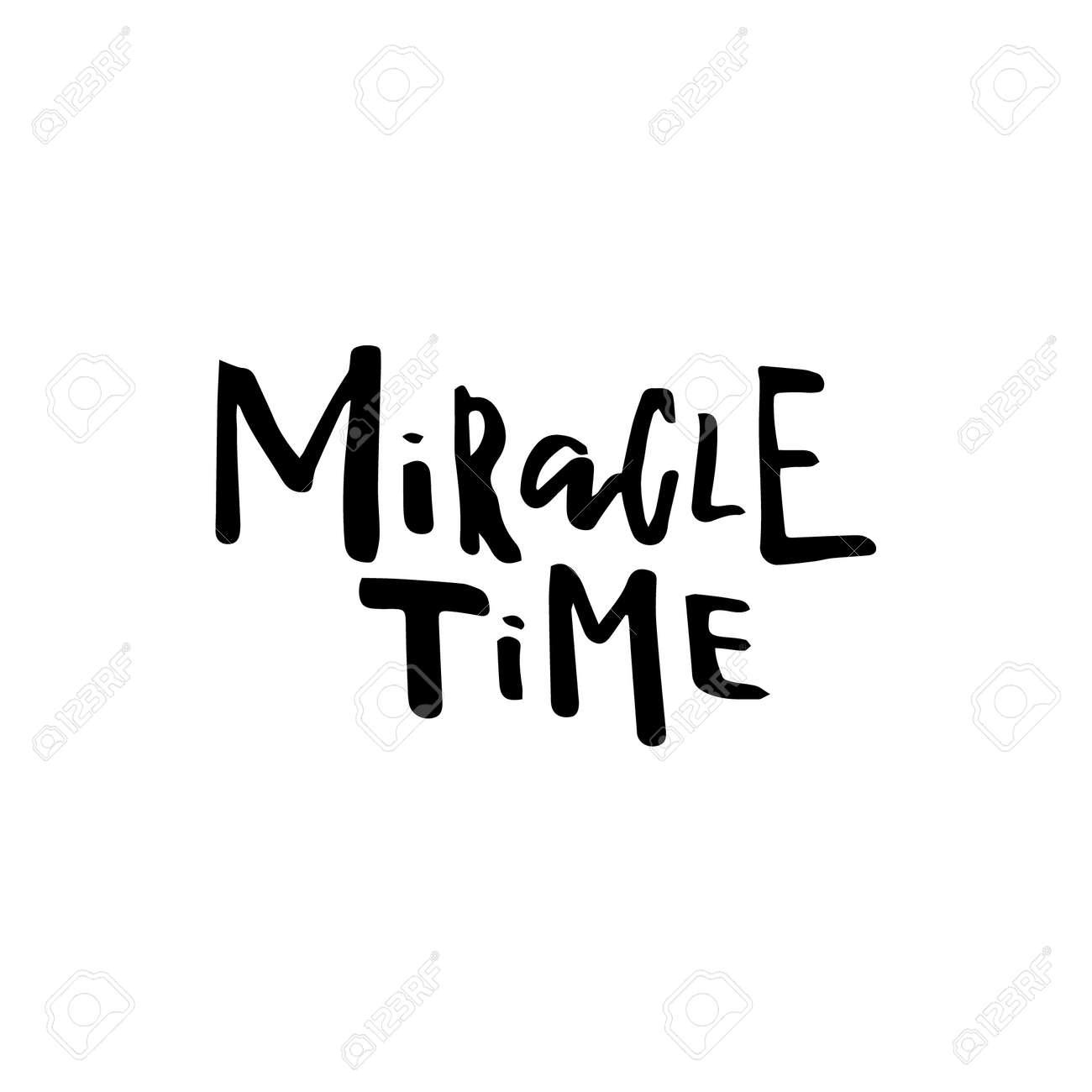 Tarjeta De Feliz Navidad Con Caligrafía Miracle Time Plantilla Para Saludos Felicidades Carteles De Inauguración De La Casa Invitaciones
