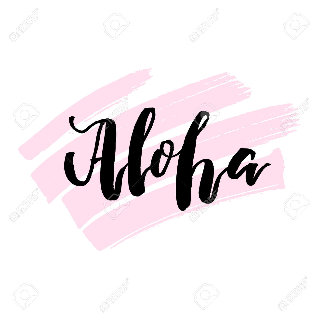 Aloha hand drawn lettering print hawaiian language greeting aloha hand drawn lettering print hawaiian language greeting typography for posters t m4hsunfo