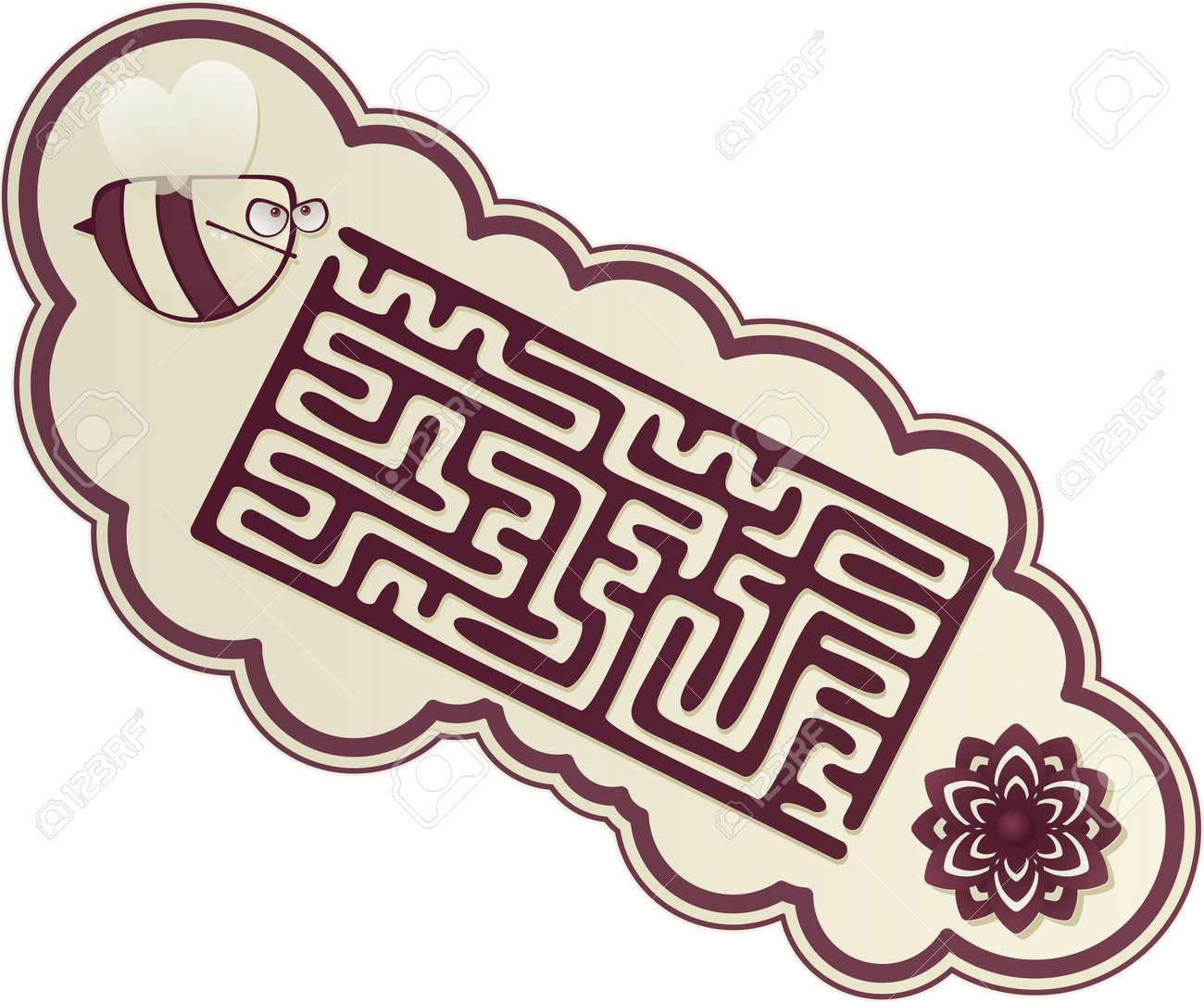 maze s bee Stock Vector - 17597356