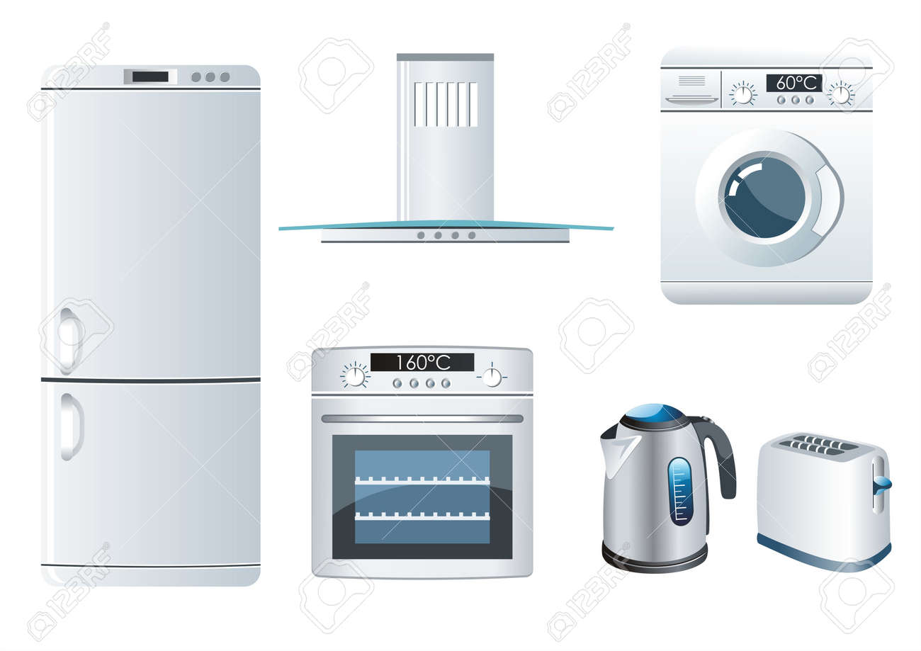 Vector set of home appliances icons Stock Vector - 10042399