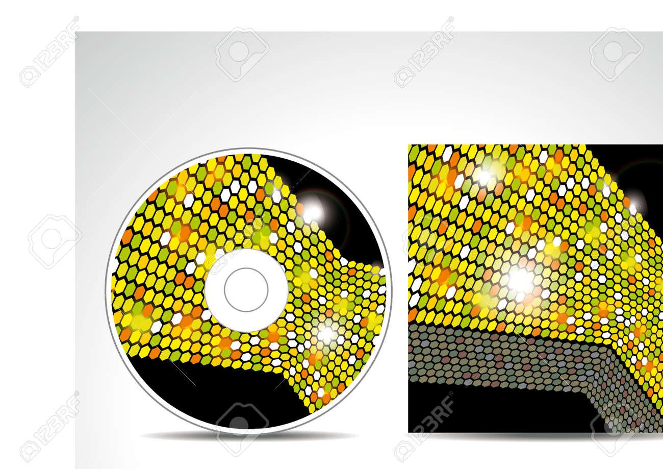 Diseño De La Portada Del CD Con Plantilla De Presentación 3D ...