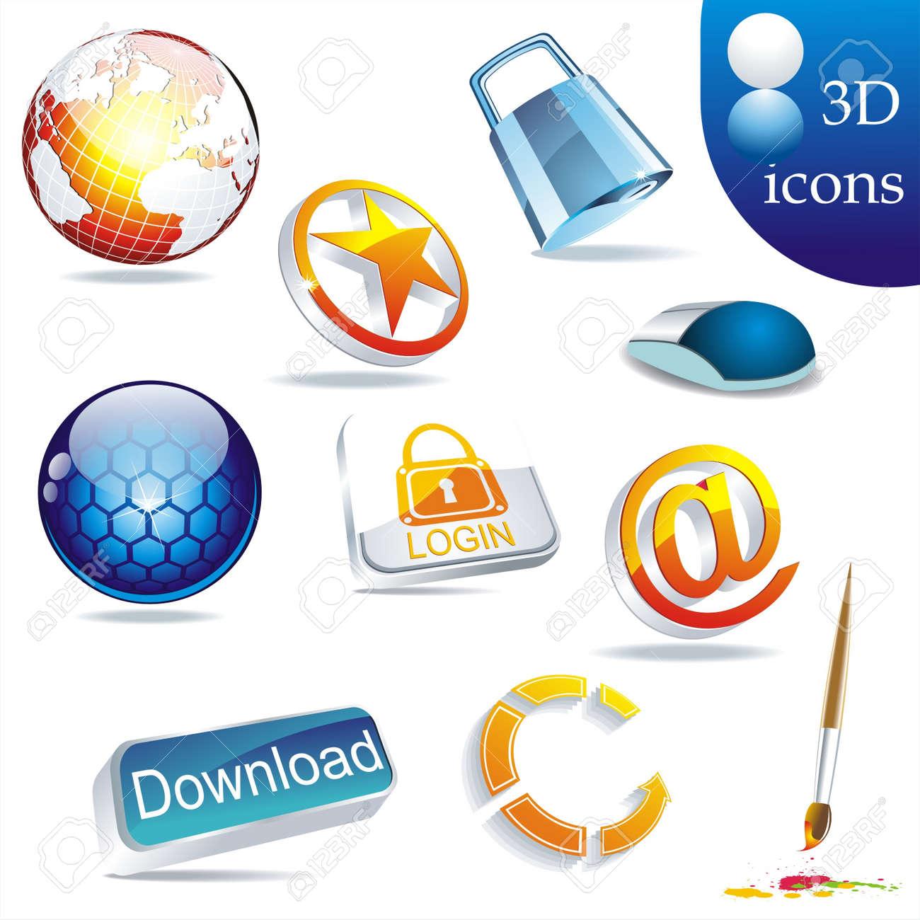 icon set: web Stock Vector - 10261101