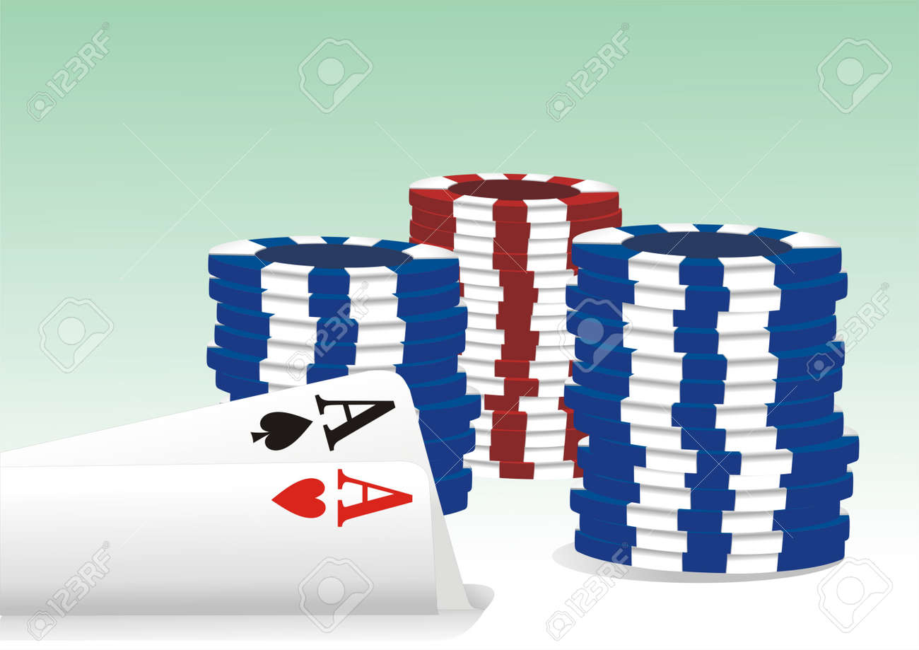 gambling illustration with casino elements Stock Vector - 11241922