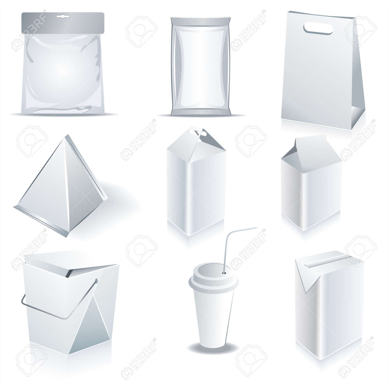 White Package Templates Royalty Free Cliparts, Vectors, And Stock ...