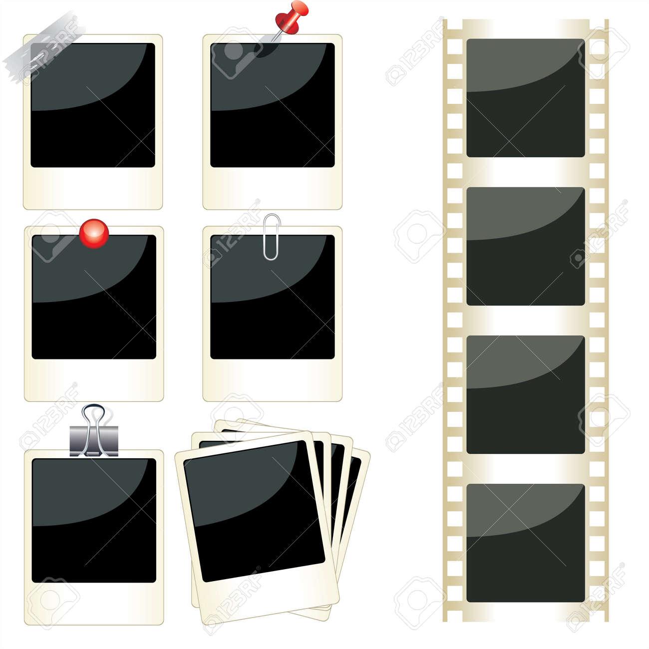 vector vector instant photo frames set