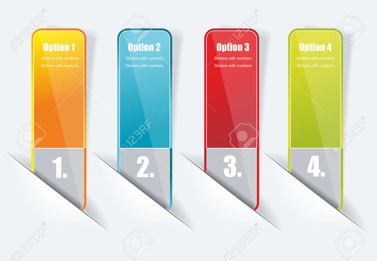 Design template numbered banners. Stock Vector - 13093596