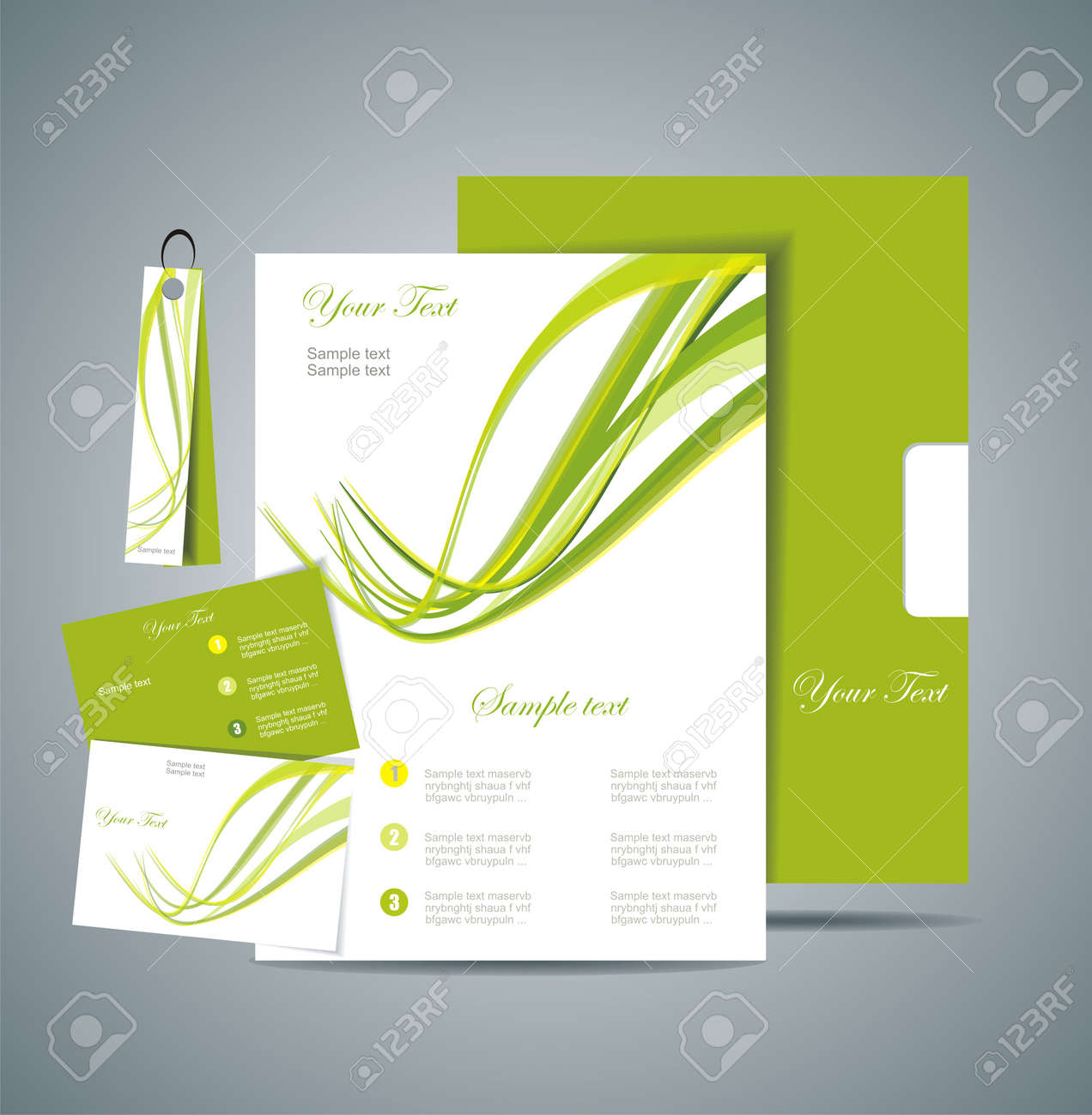 Corporate Identity Template Stock Vector - 14473148