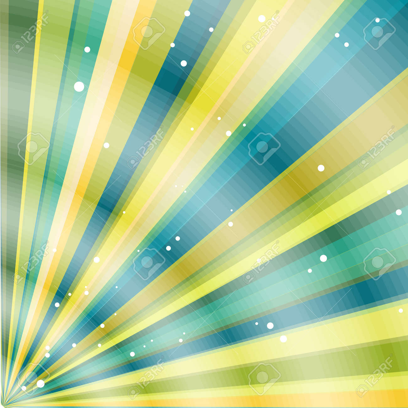 Multicolor beams grunge background. A vintage poster. Stock Vector - 14653302