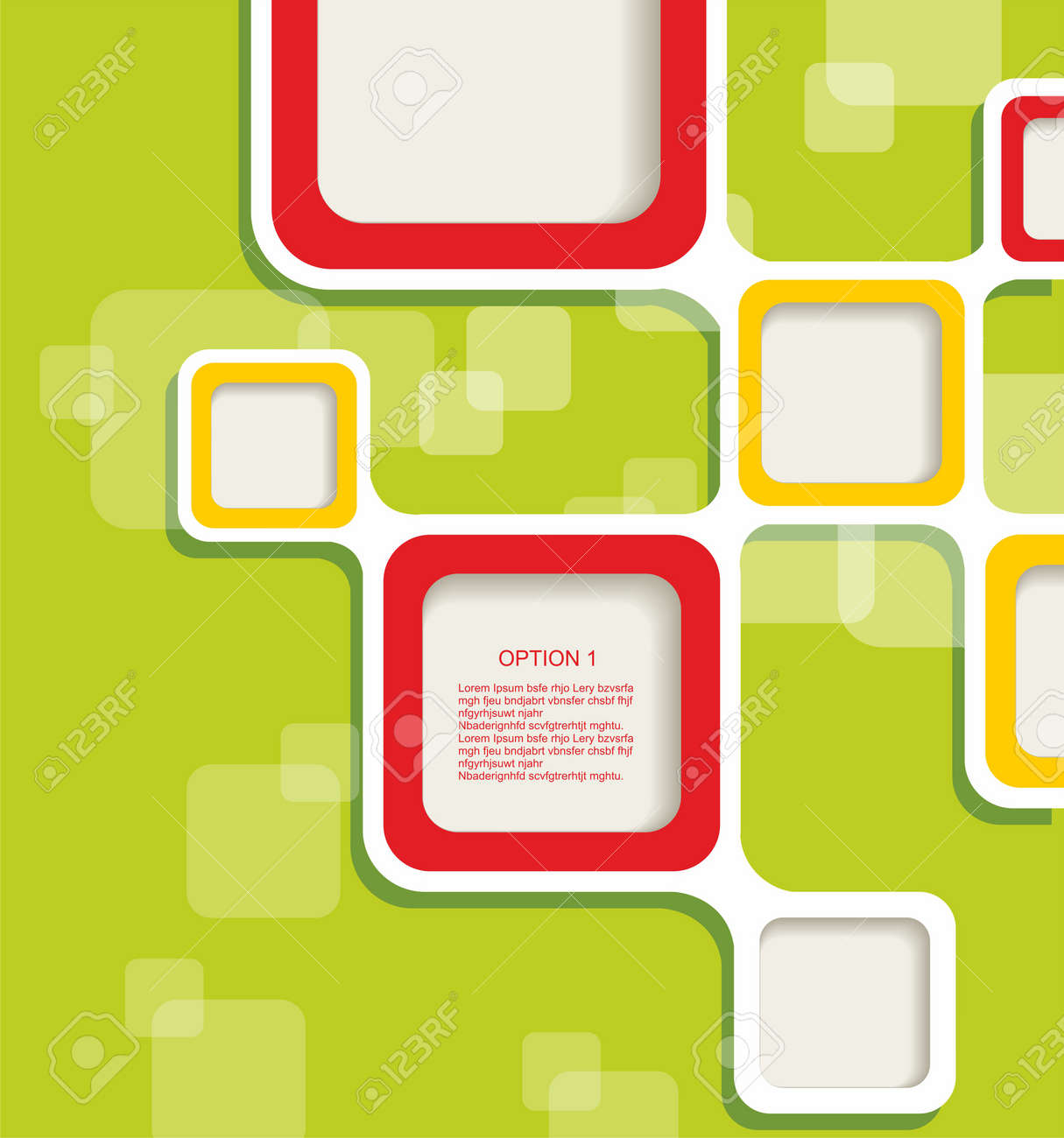 Blank square background for Your Text - Realistic 3D Background Stock Vector - 14934159