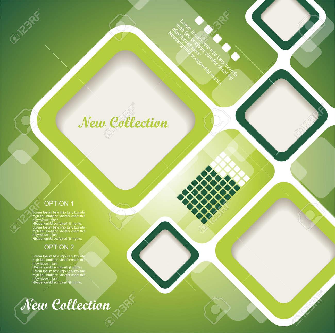 Website Template design frame. Stock Vector - 14934161