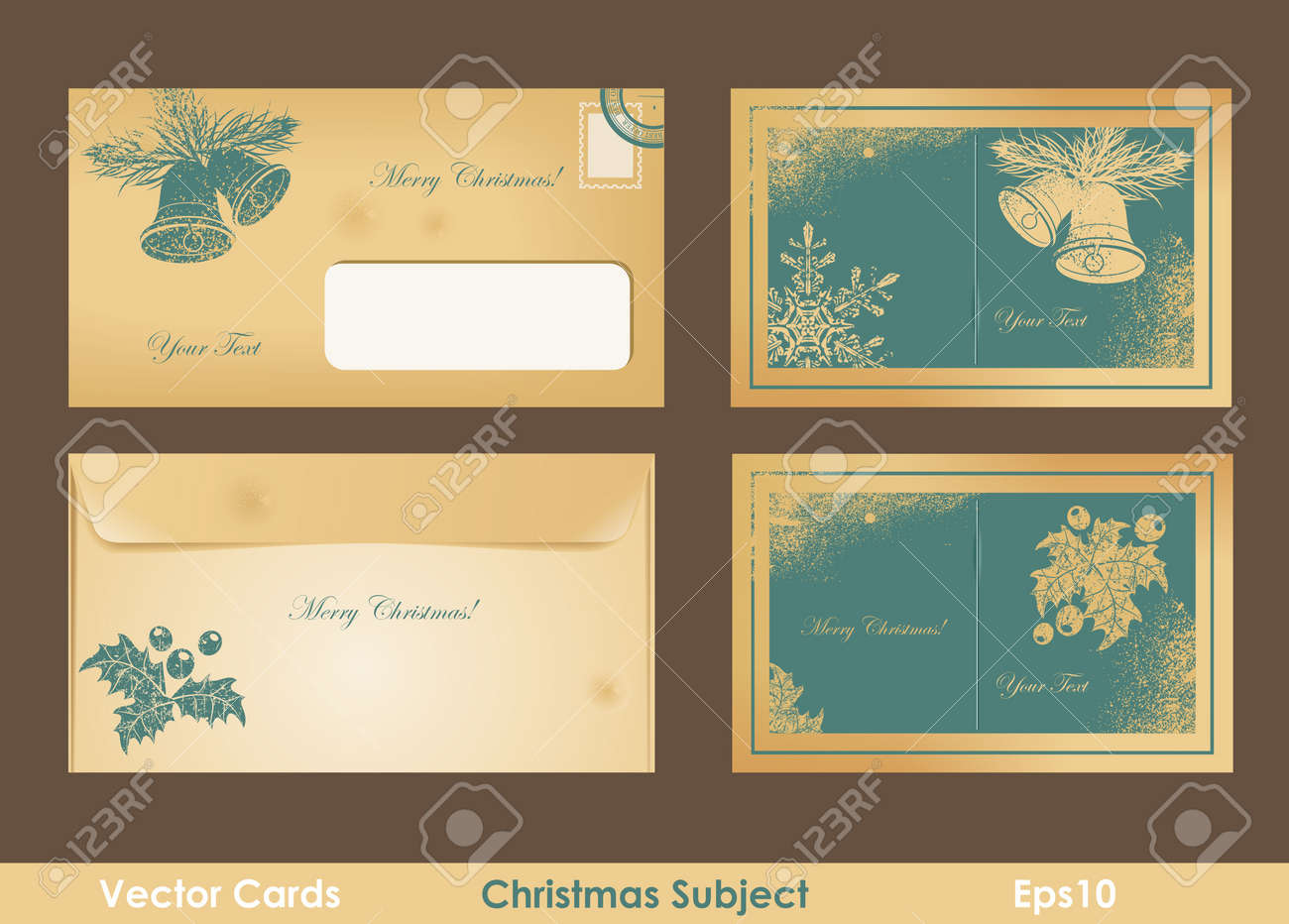 Vintage christmas card Stock Vector - 15462183