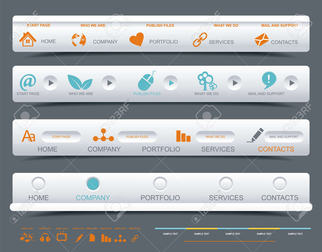 A collection of web panels Stock Vector - 16656120