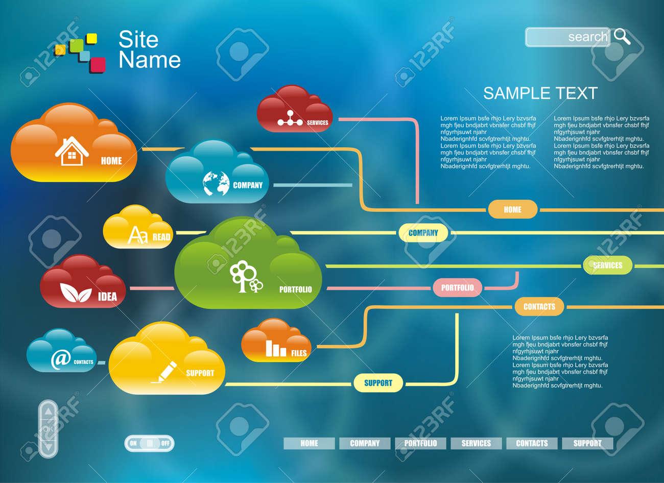 Cloud computing, technology connectivity concept Stock Vector - 18245772