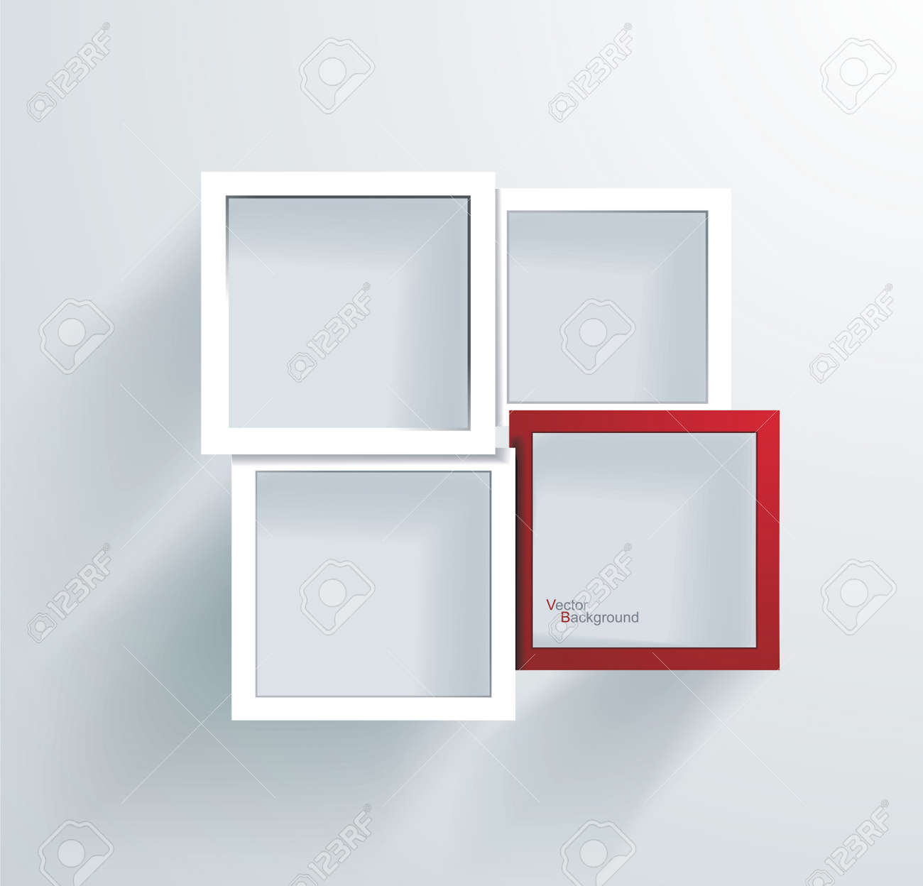 Paper Frames Abstract 3D Geometrical Design Royalty Free Cliparts ...