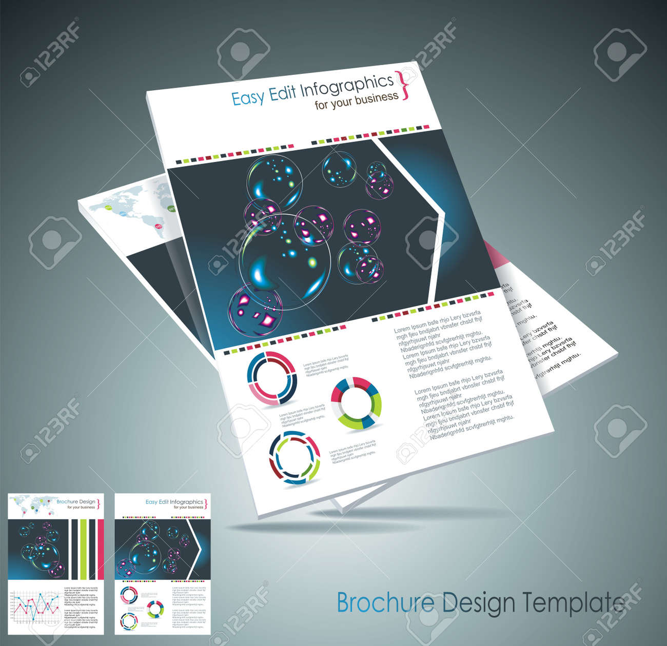 Magazine cover layout design vector Stock Vector - 18523932