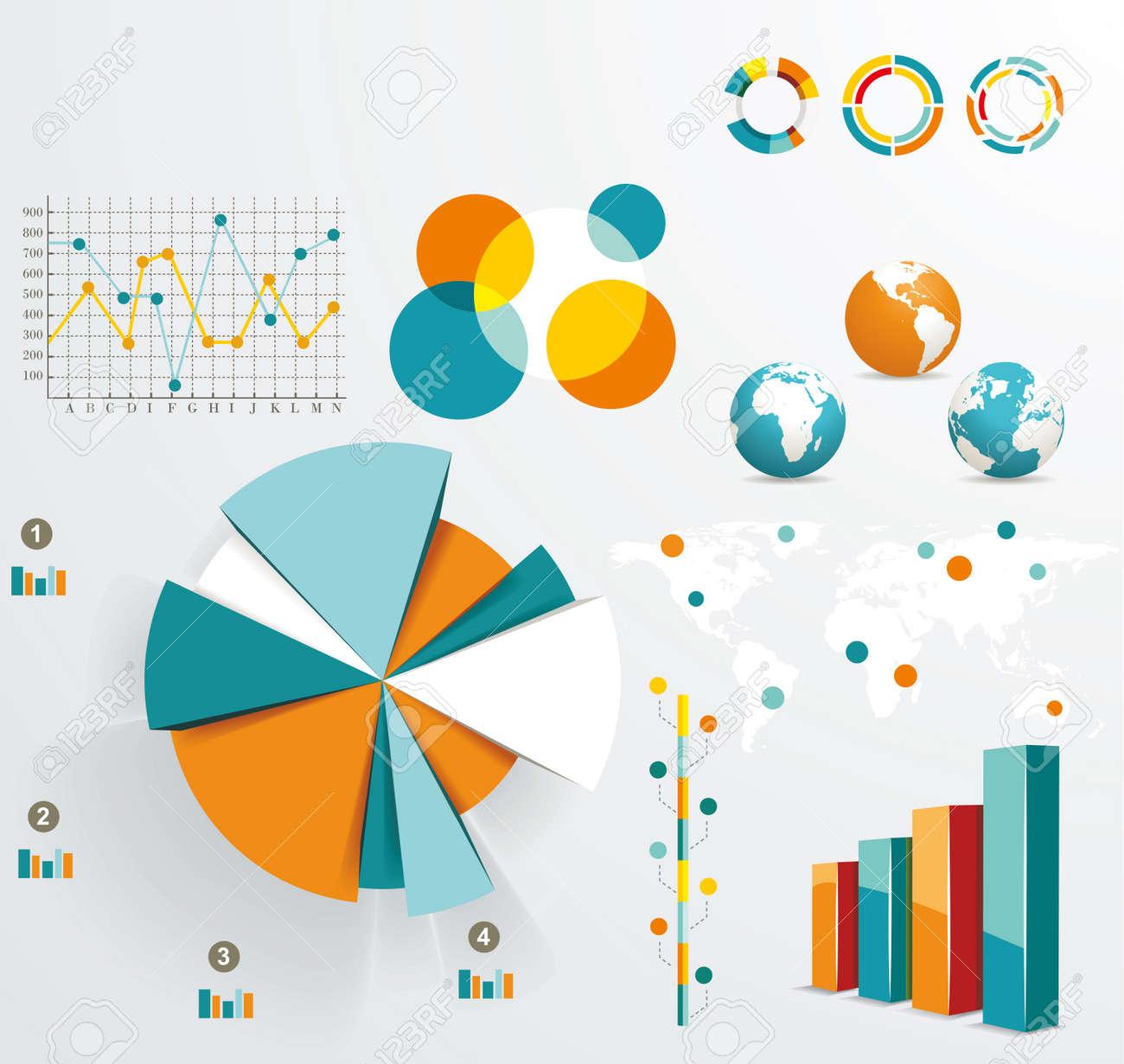 Set elements of infographics Stock Vector - 18622714