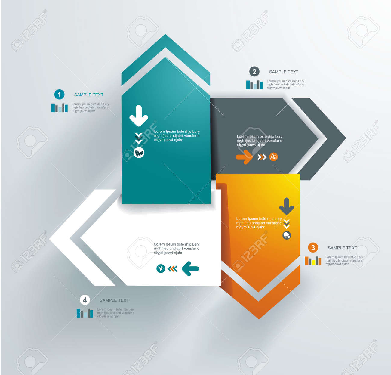 Abstract distortion from arrow shape background - seamless  Can be used for graphic or website layout vector Stock Vector - 18818690