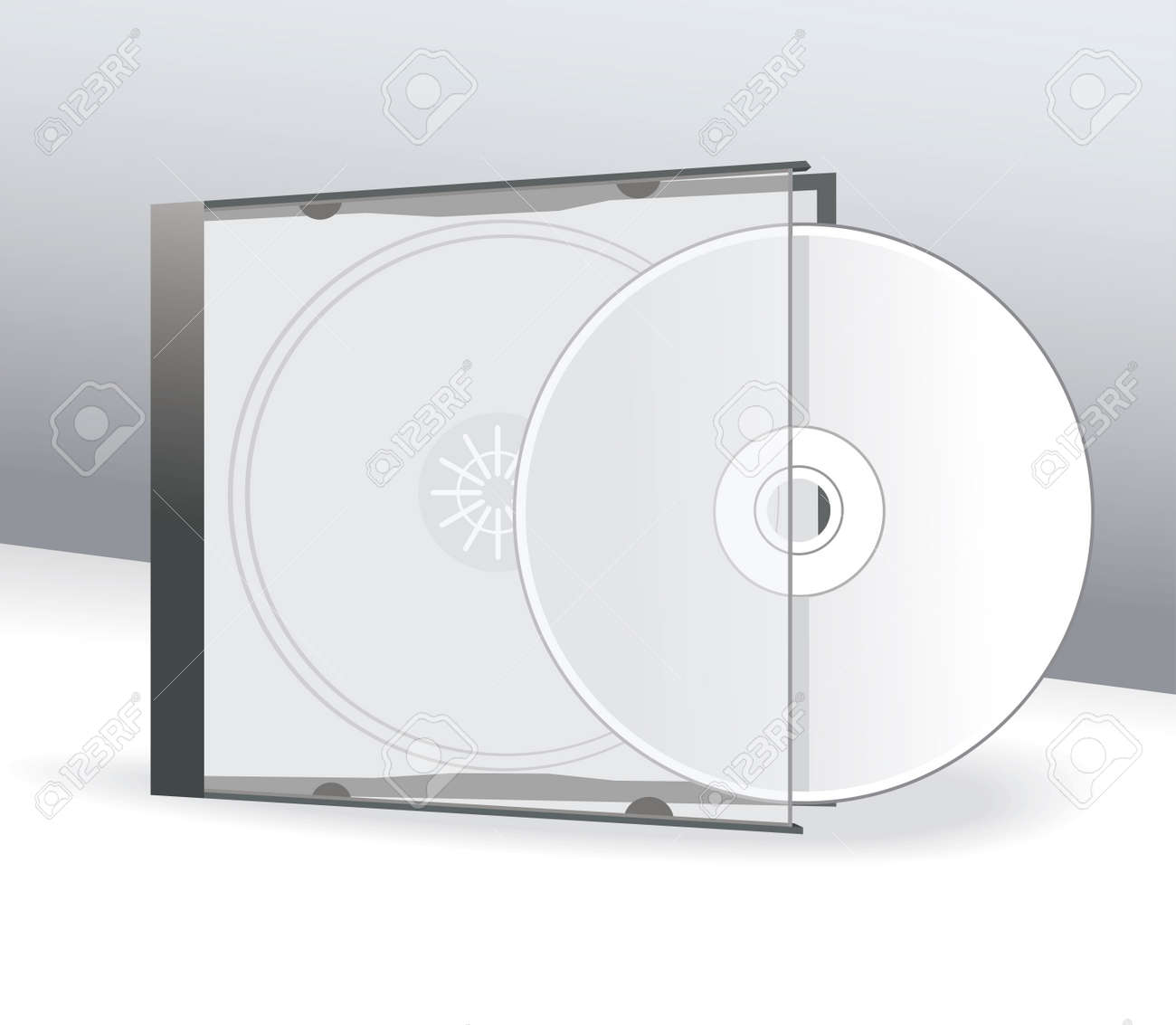 CD Cover Design with 3D Presentation Template Stock Vector - 19246494