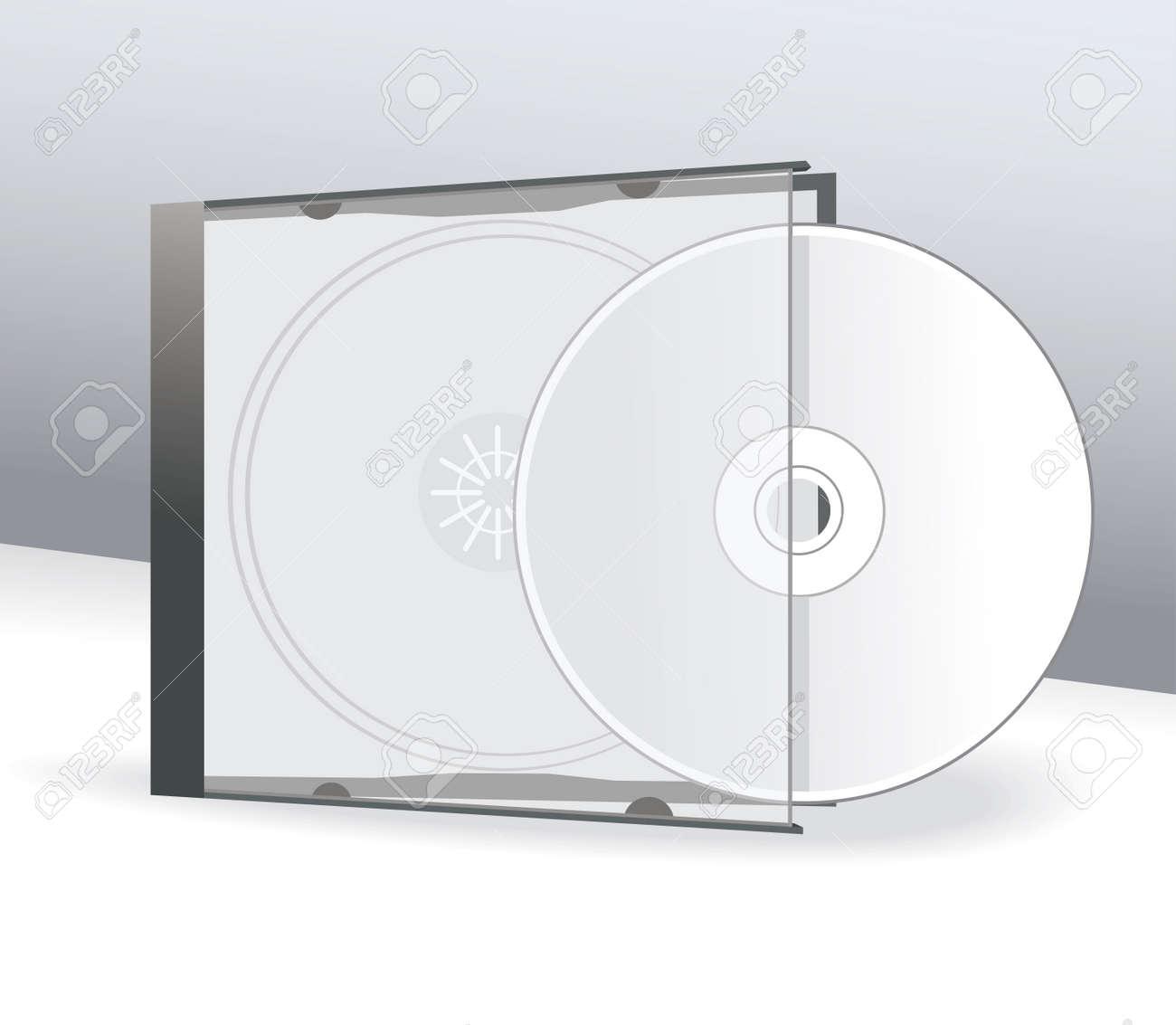 CD De Diseño De La Cubierta Con 3D Presentación Plantilla ...